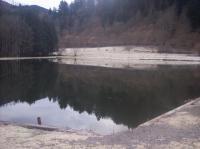 Paysage hivernal de l'étang